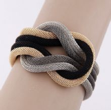 Mesh True Lovers Knot Bracelet